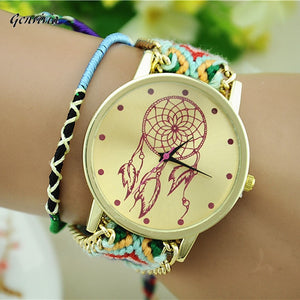 GENVIVIA 2017 Female New watches women montres femme women's watch Bracelet Clock With Fabric Watch Strap Braid Dress Watches
