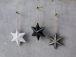 Christmas star ornament - Set of 3