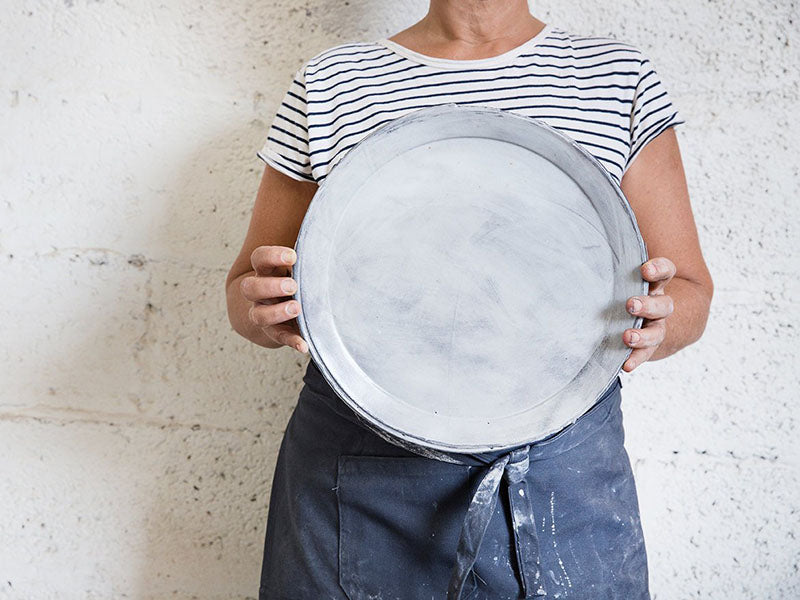 Frayed Canvas Serving Plate