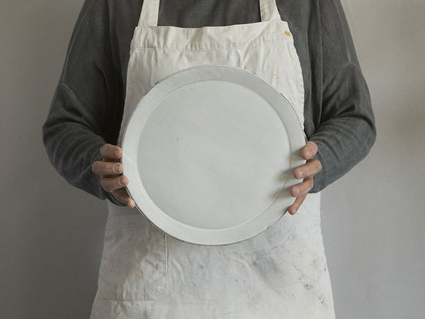 Frayed Cotton Dinner Plate