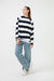 Raglan Sleeve Striped Jersey Top