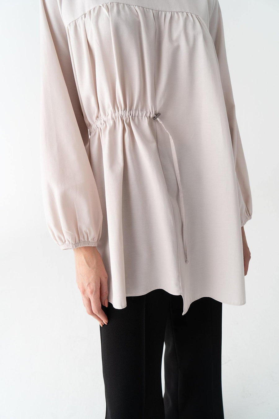 Shirred Cotton Tunic