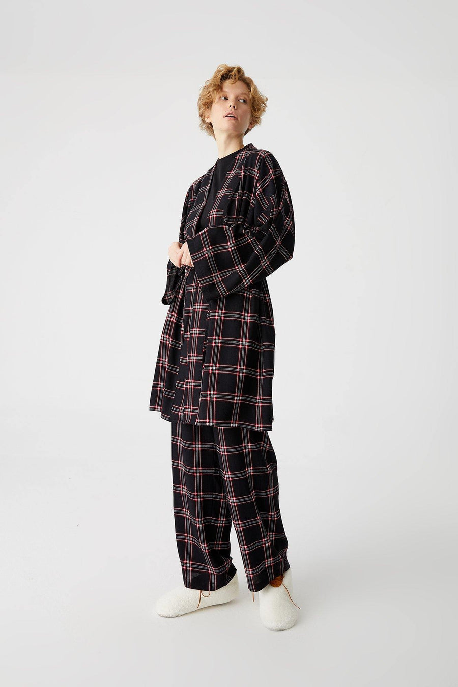Pajama Set With Robe