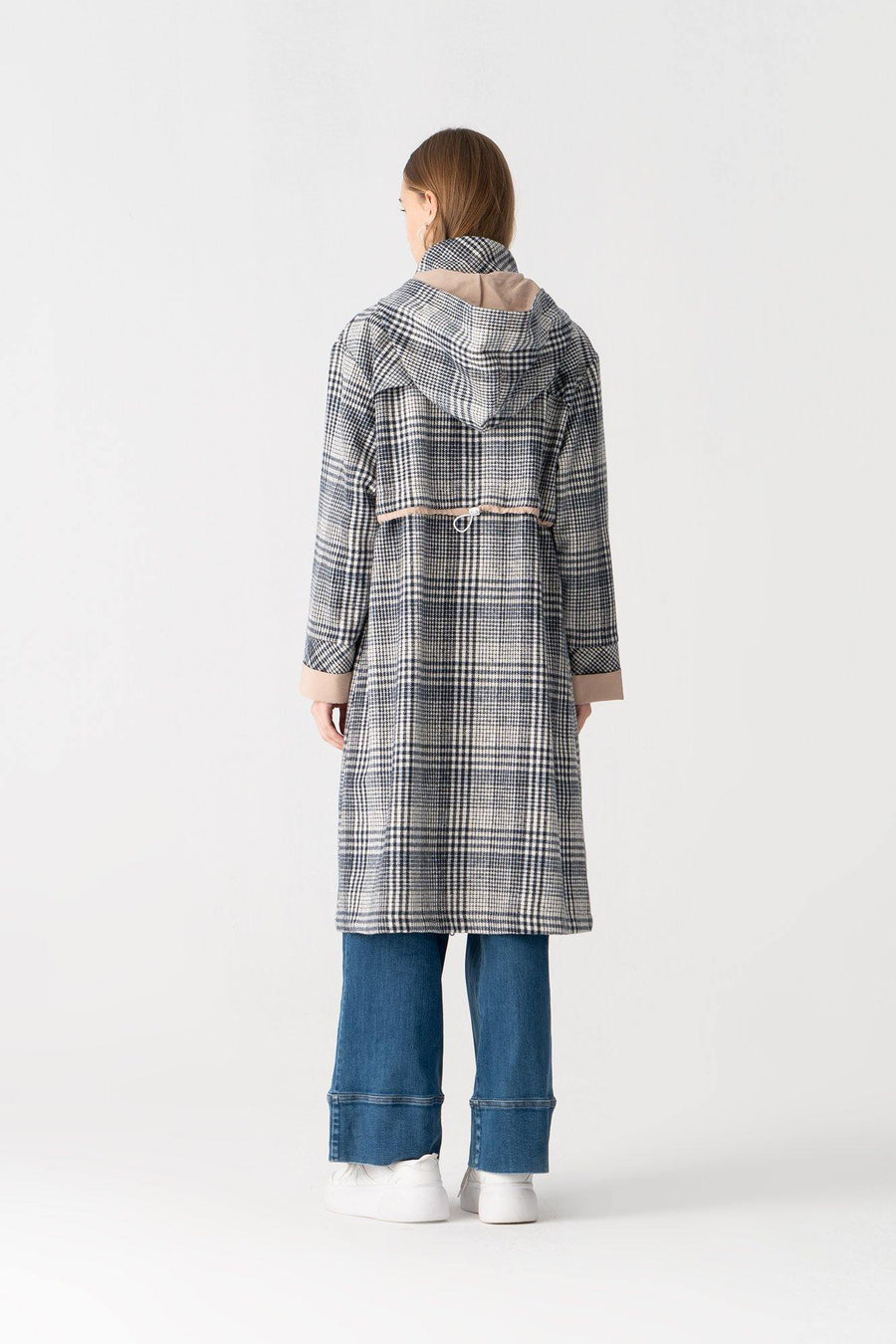 Plaid Coat With Hood
