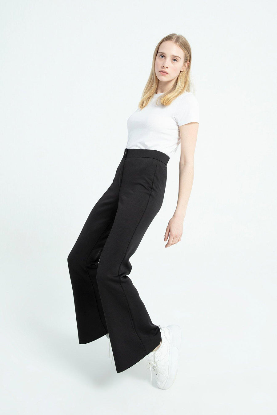 Flare Neoprene Trousers