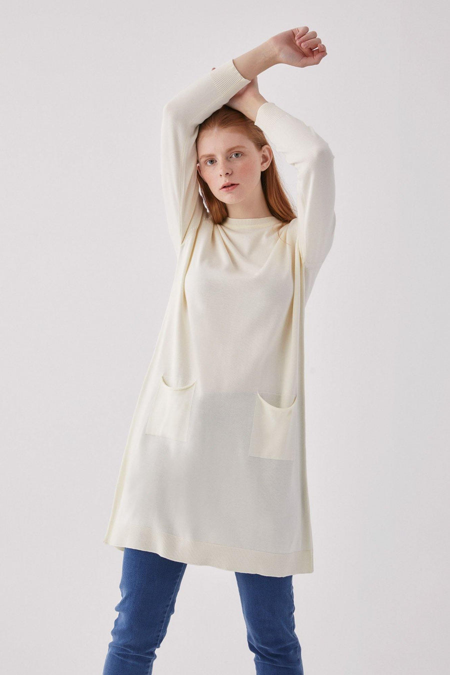 Basic Pocket Sweater Tunic