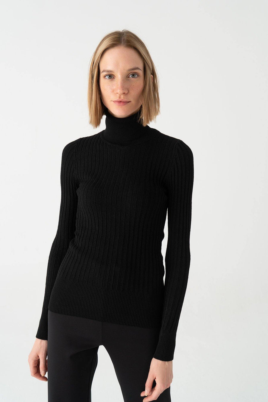 Turtleneck Basic Knit Top