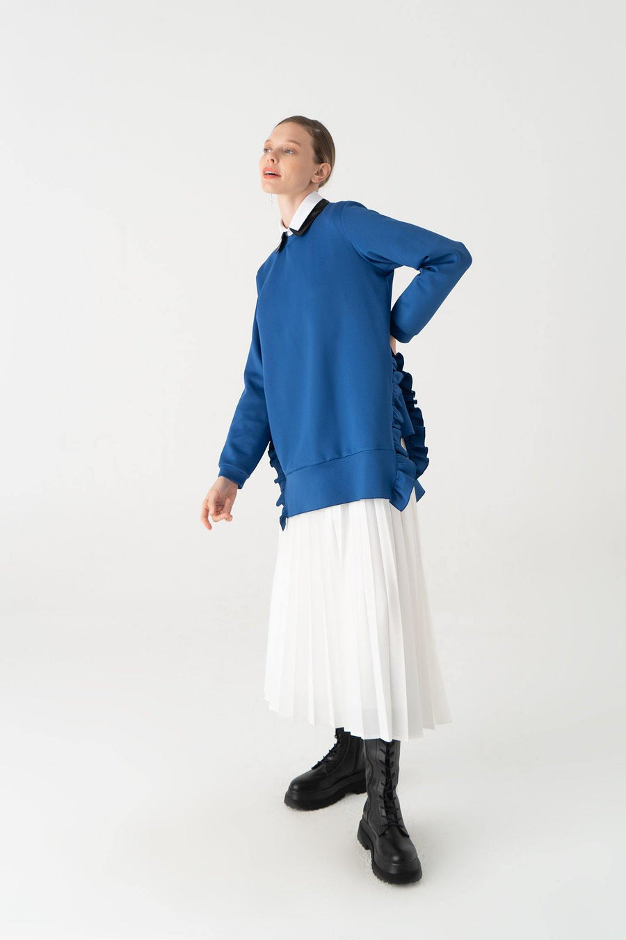 Frilled Neoprene Tunic