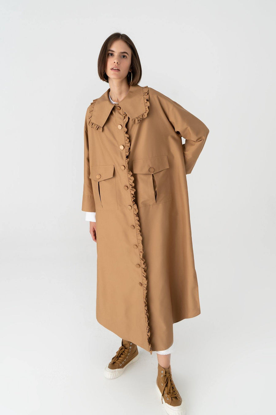 Frilled Trenchcoat