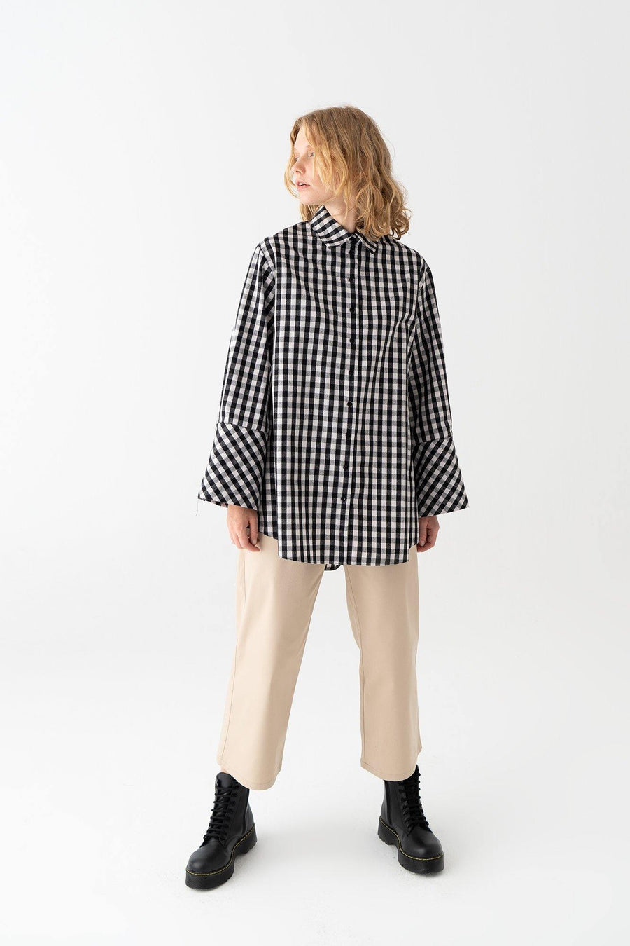 Plaid Cuf Detailed Shirt