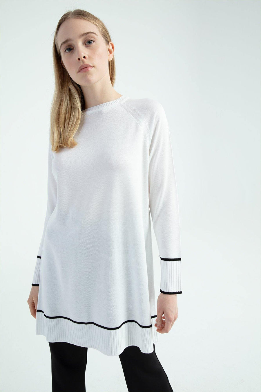 Ribbed Knitwear Tunic