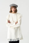 Organza Detailed Jersey Tunic
