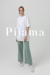 Retro Pattern Pajama Set