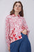 Pocketed Floral Patterned Shirt