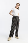 Elastic Waisted Striped Trousers