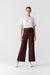 Zip Detail Scuba Crepe Trousers
