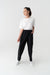 Elastic Waisted Cotton Trousers