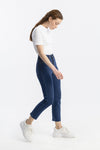 Straight Fit Denim Trousers