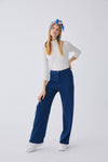 Flat Cut Knitted Trousers