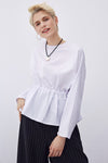 Pile Detail Japone Sleeve Blouse
