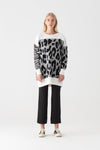 Animal Patterned Knitwear Tunic