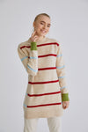 Colorful Striped Knitwear Tunic