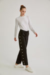 Pearl Garnished Scuba Pants