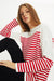 T-Sleeve Striped Tricot Tunic