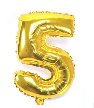 32inch Gold Silver Number Foil Balloons Digit air Ballons Happy Birthday Wedding Decoration Letter balloon Event Party Supplies