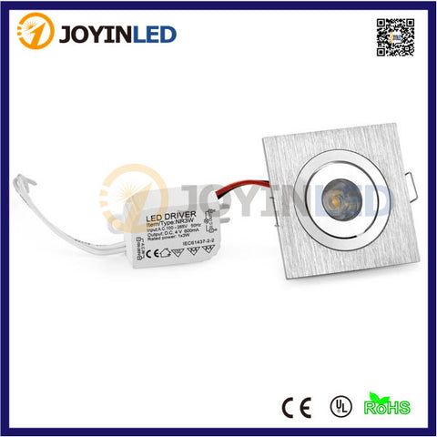 High power led 1W 3W mini led ceiling lamps square cabinet bedroom led downlights