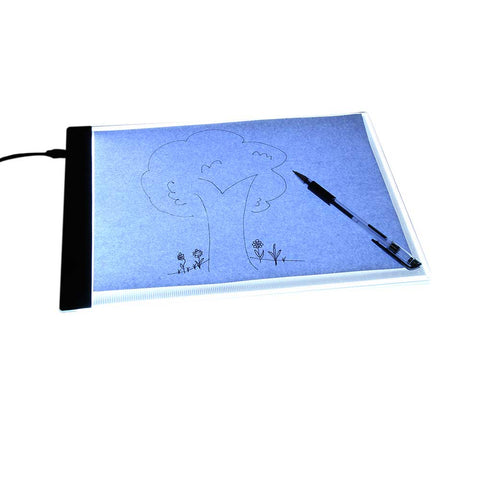 A4 4mm Drawing Copy Board 5V Acrylic Ultrathin LED Sketching Board Translucent Calligraphy Practice Light Desk 33.5 x 23.3cm