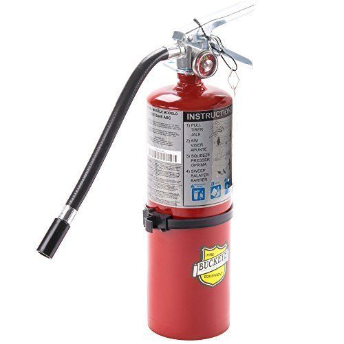 "NEW 2017 ""BUCKEYE"" 5-LB ABC FIRE EXTINGUISHER WITH VEHICLE BRACKET"