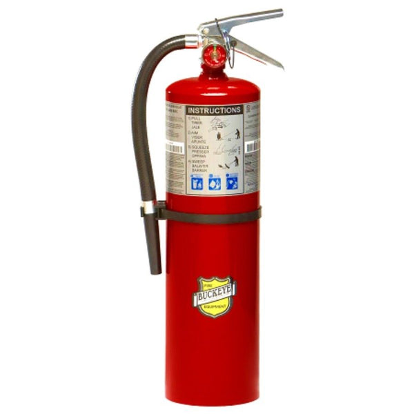Fire Extinguisher, 10 lb. Capacity, ABC, Dry Chemical, 11340, Buckeye 2017, New.