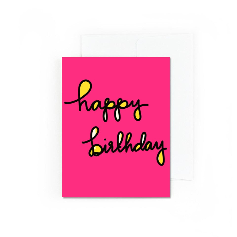 POP Happy Birthday Card