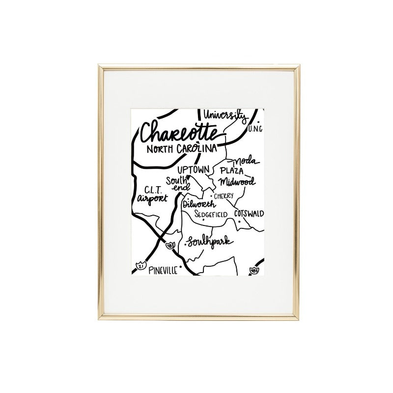 Charlotte, North Carolina 8x10 Art Print