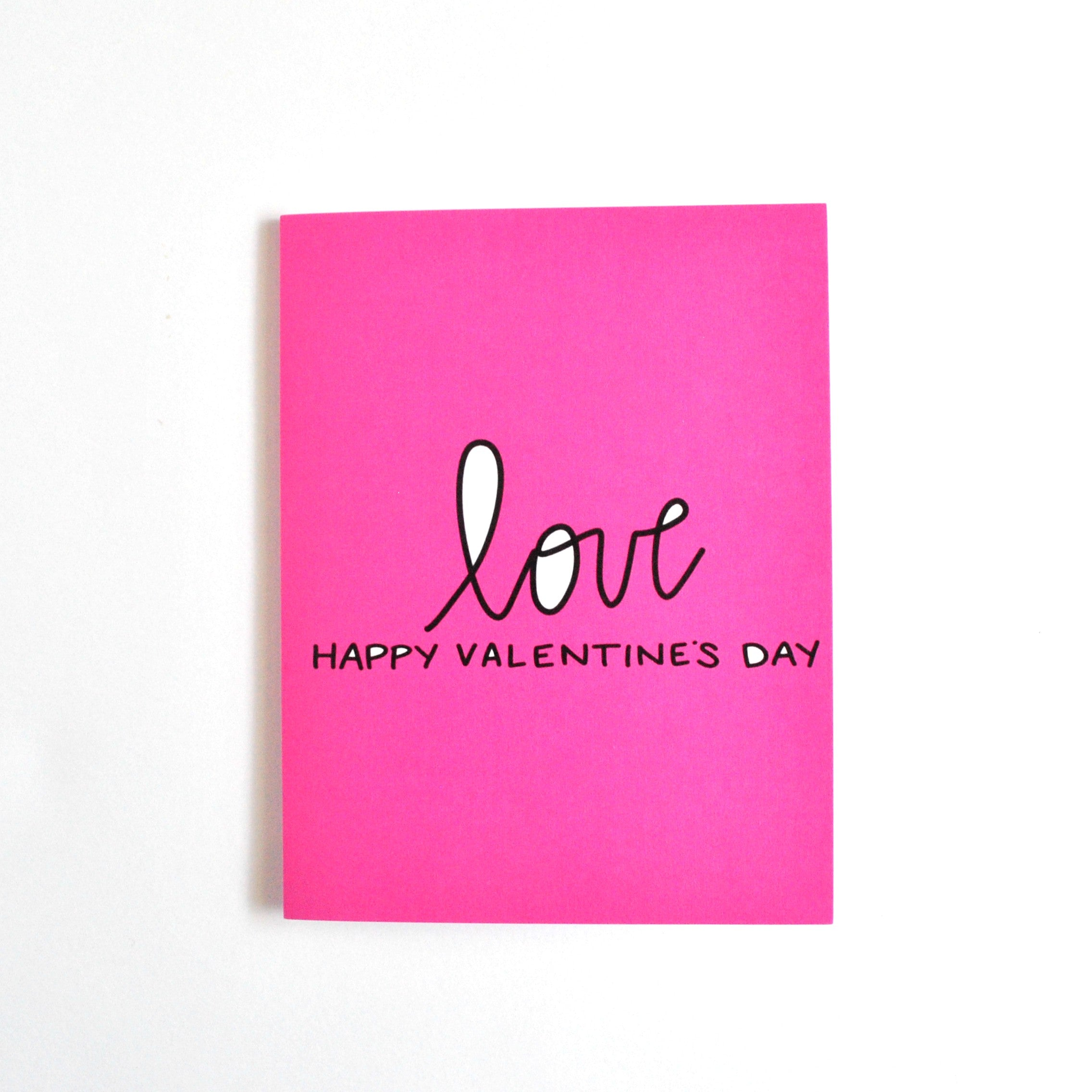 Pink Love Valentine's Day Greeting Card
