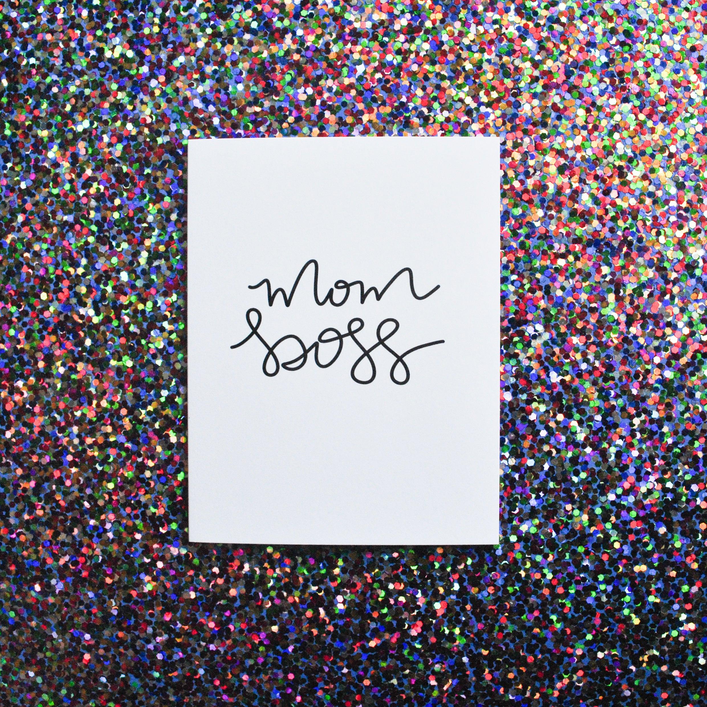 Mom Boss Greeting Card