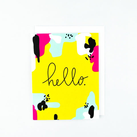 Hello. Greeting Card