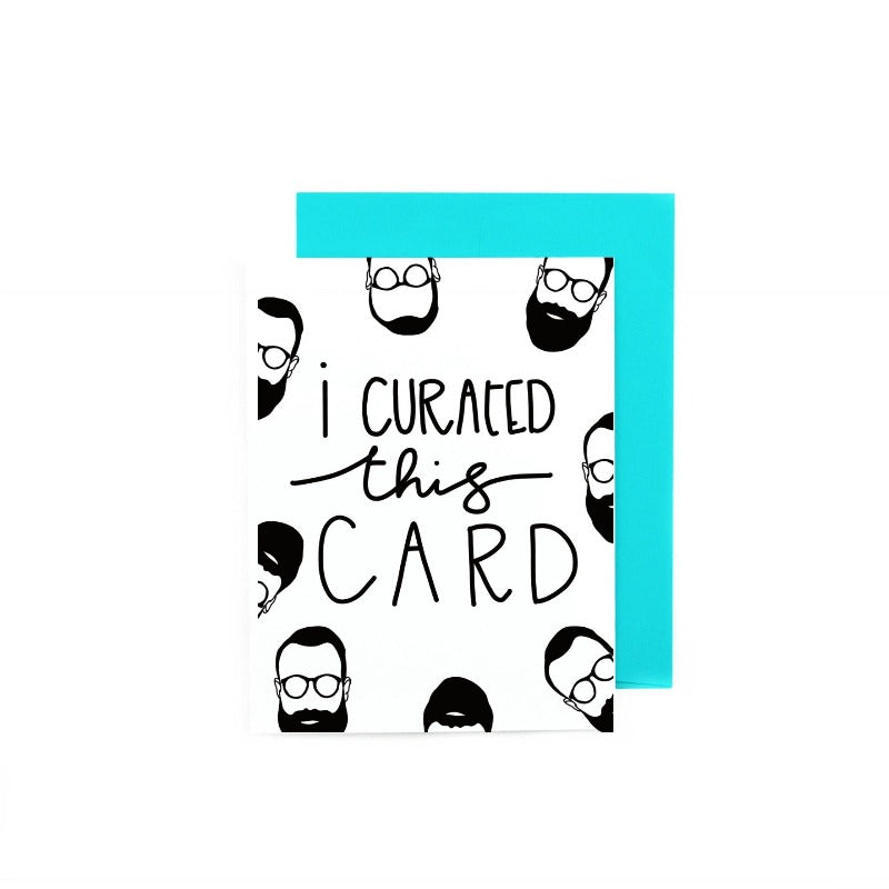 I Curated This Card Hipster