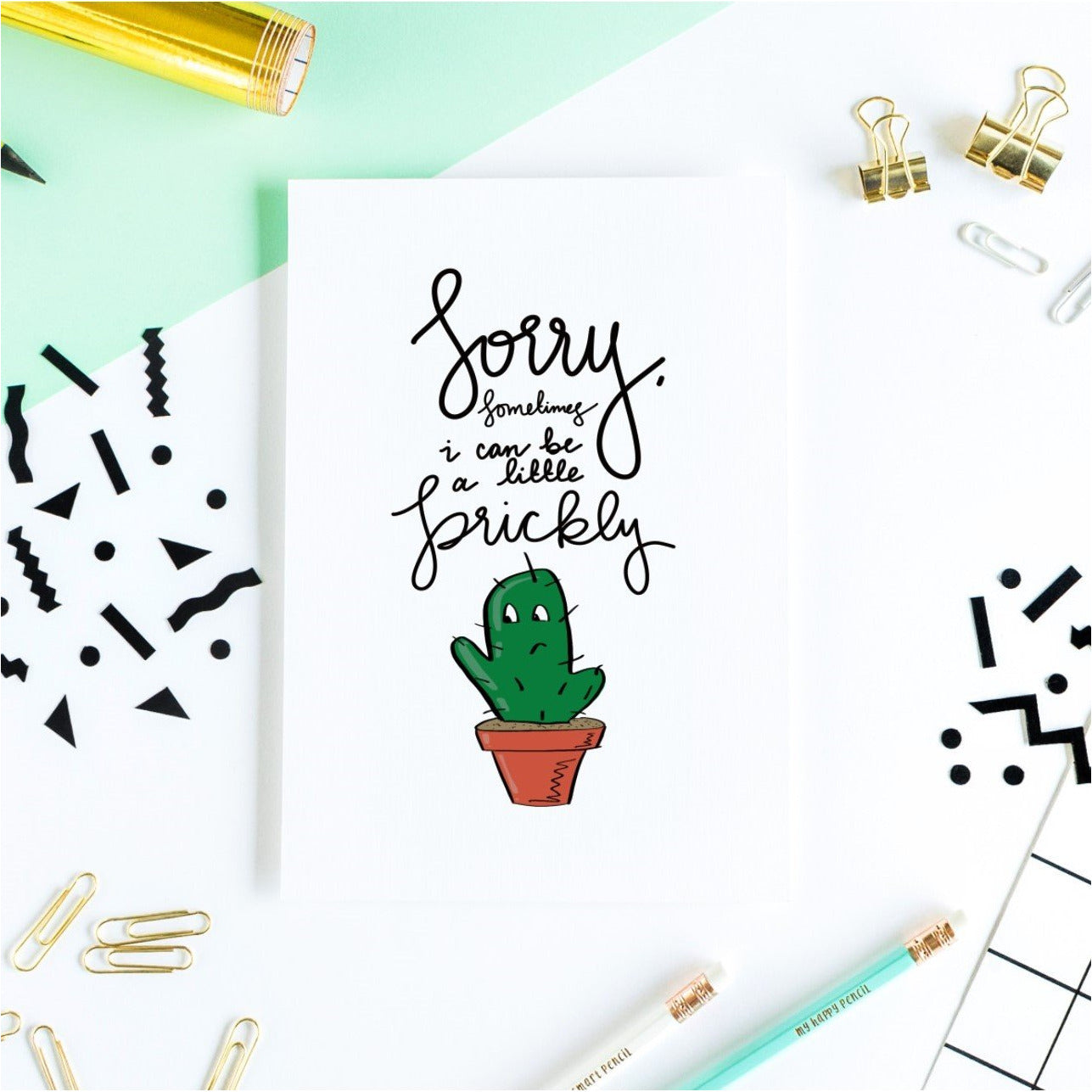 Sorry, Sometimes I Can Be A Little Prickly Greeting Card