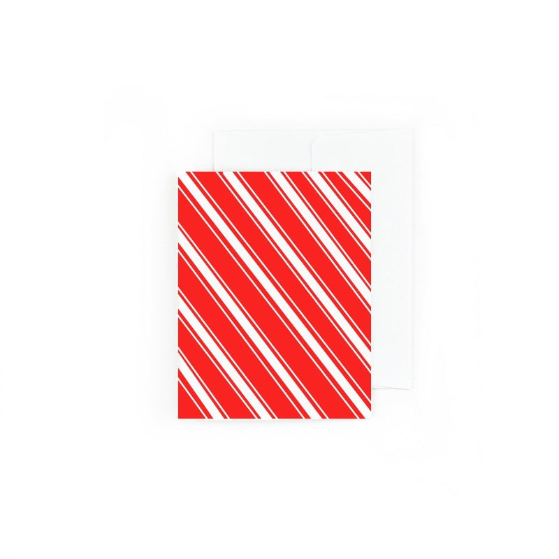 Holiday Stripes Christmas Greeting Card