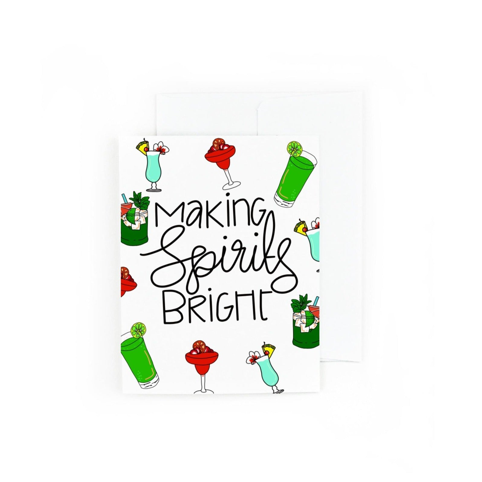 Making Spirits Bright Holiday Greeting Card