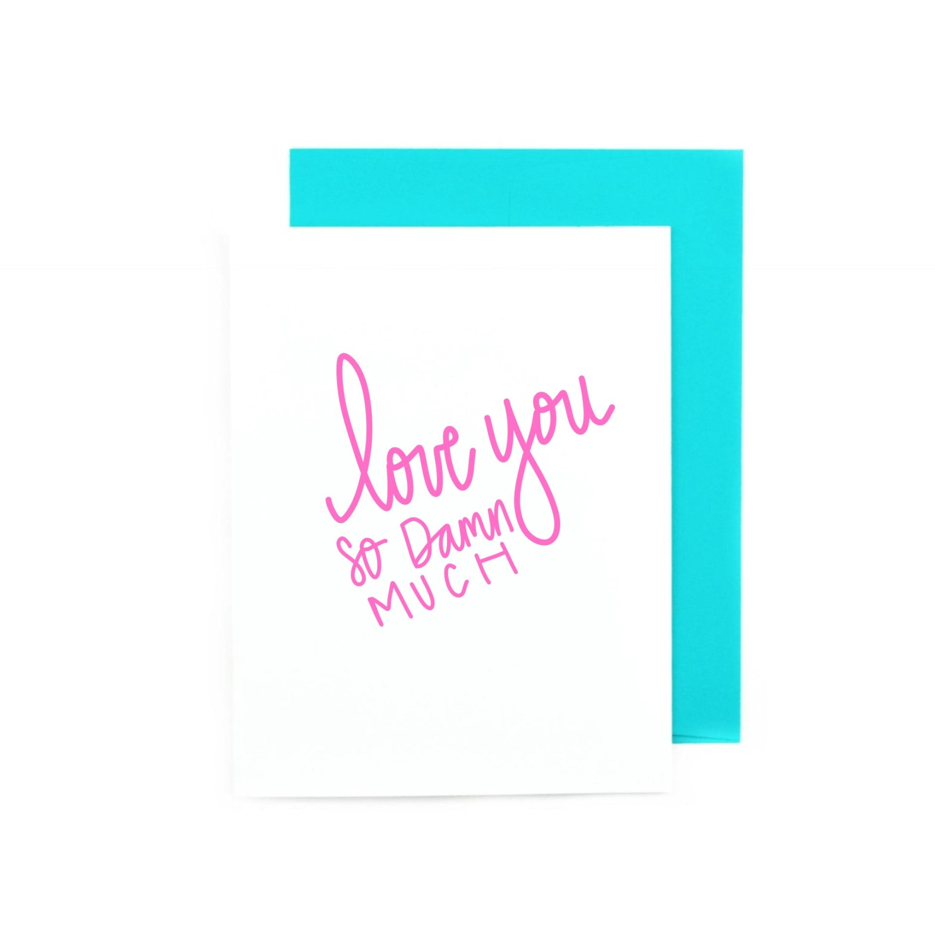 Love You So Damn Much Valentine's Day Greeting Card