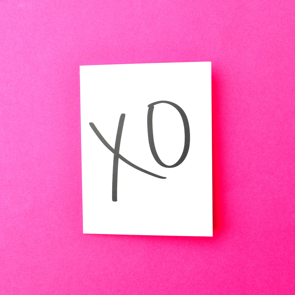 XO Love/ Valentine's Day Greeting Card