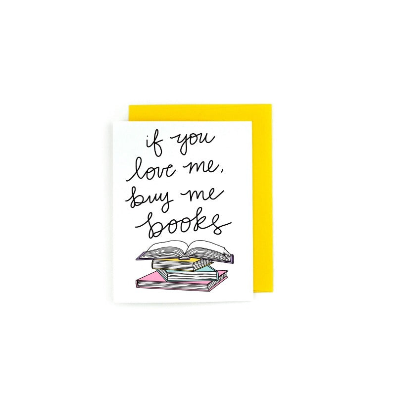 Buy Me Books Greeting Card