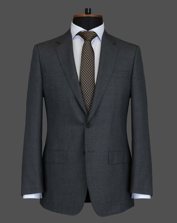 TLA012 - Plain Mid Grey Suit