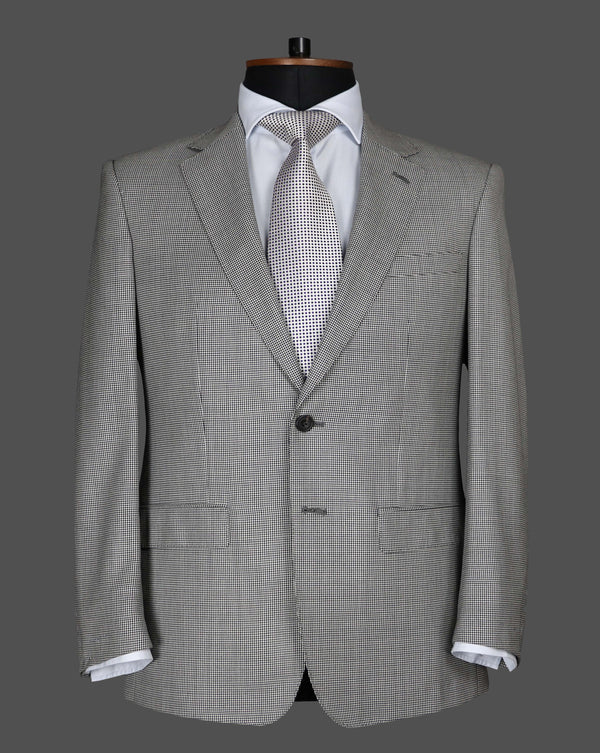 TLA005 -  Black And White Puppytooth Suit
