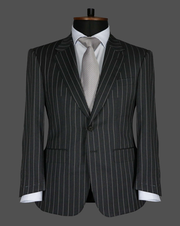 TLA007 - Grey Pinstripe Suit