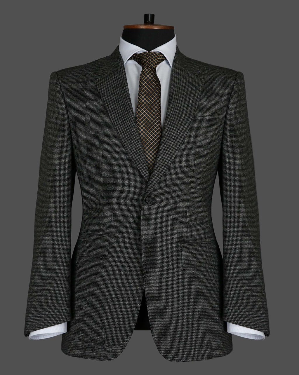 TLA024 - Black and Grey Puppytooth Suit