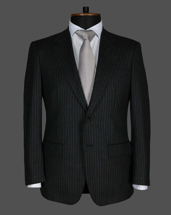 TLA028 - Grey Stripe Suit